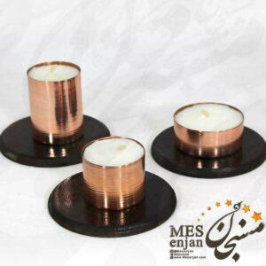 شمع سه تایی مسی