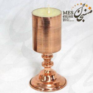 شمع پایه دار مسی